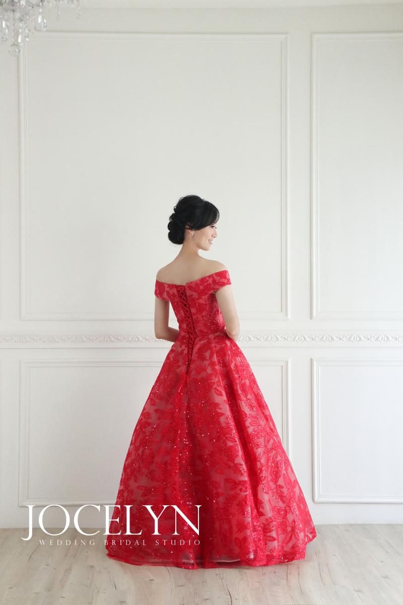 婚紗推薦; 禮服租借;紅色禮服; 蕾絲禮服; 婚紗攝影;