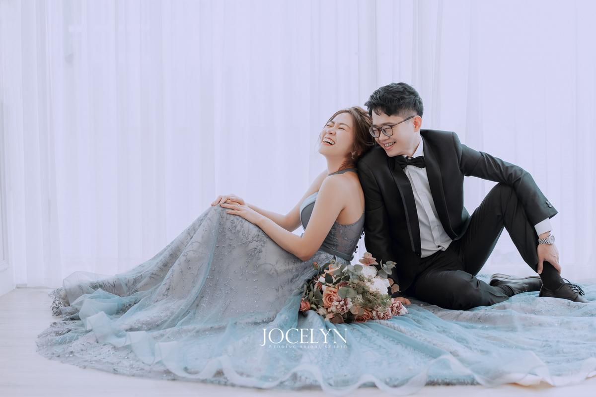 藍色禮服,藍色禮服造型,藍色禮服推薦,推薦台北婚紗,婚紗照