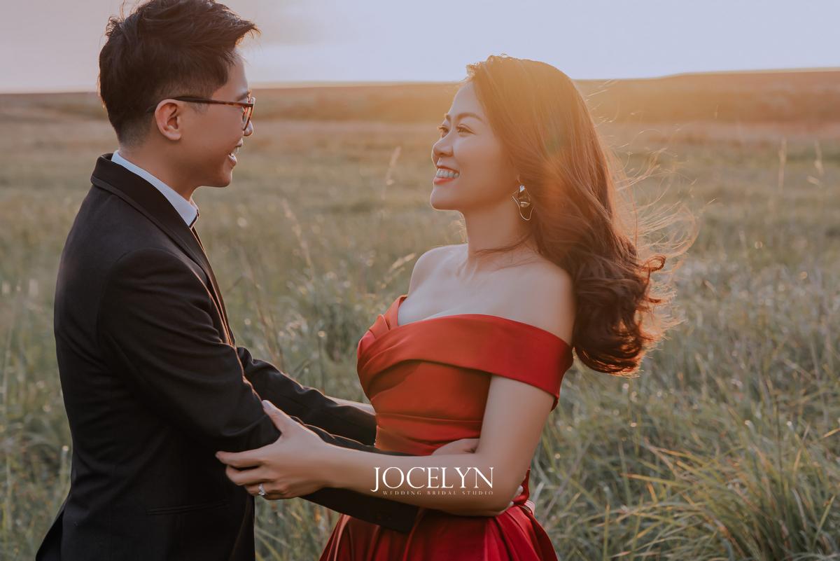 紅色禮服,紅色禮服造型,紅色禮服推薦,婚紗照,淡水婚紗